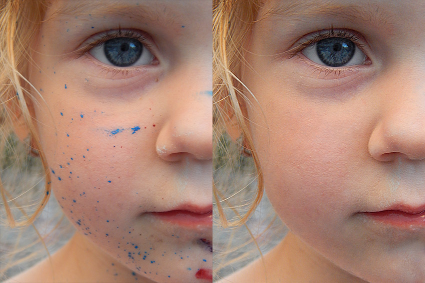 how to retouch skin with photoshop action