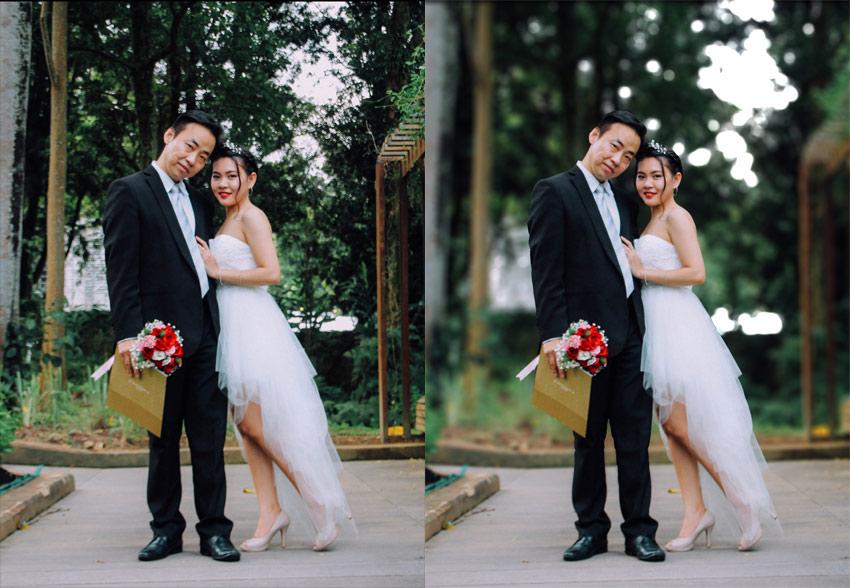 blur background in photo