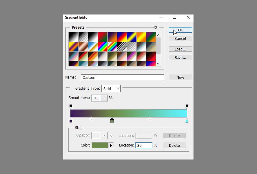 gradient map colors
