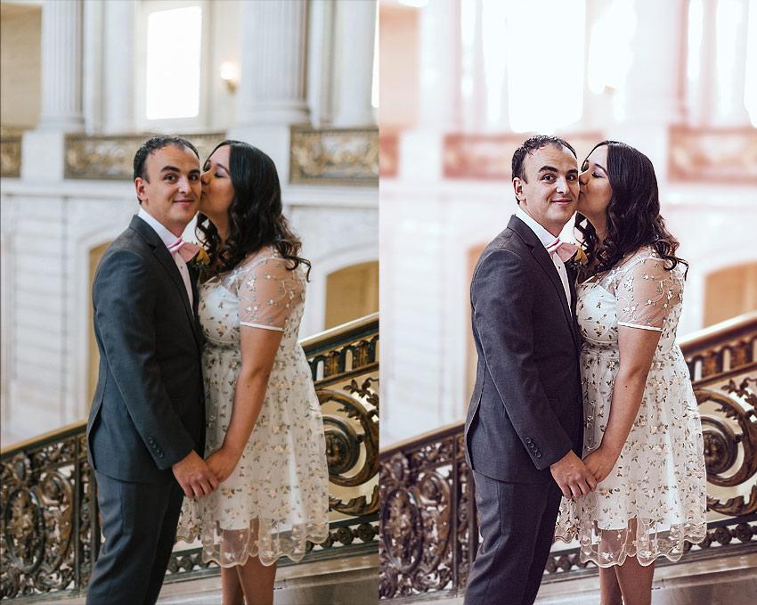 wedding photoshop edit