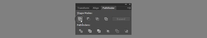 unite shape with pathfinder