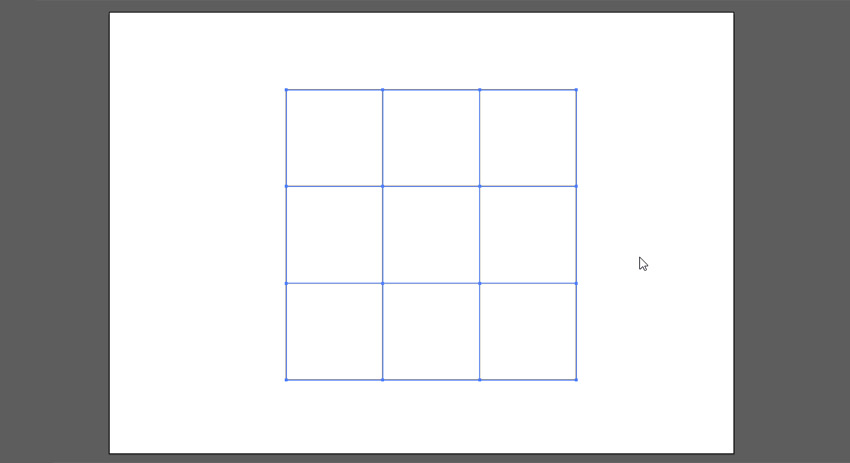 create a grid from square