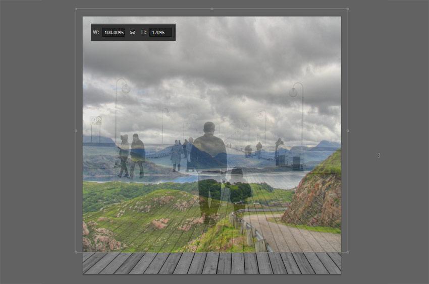 resize image horizontally