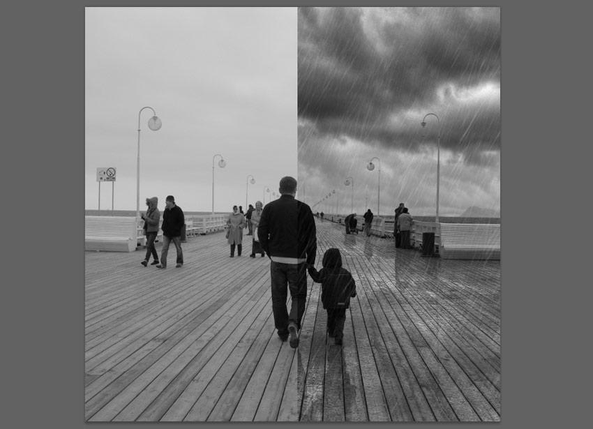 rain effect comparison