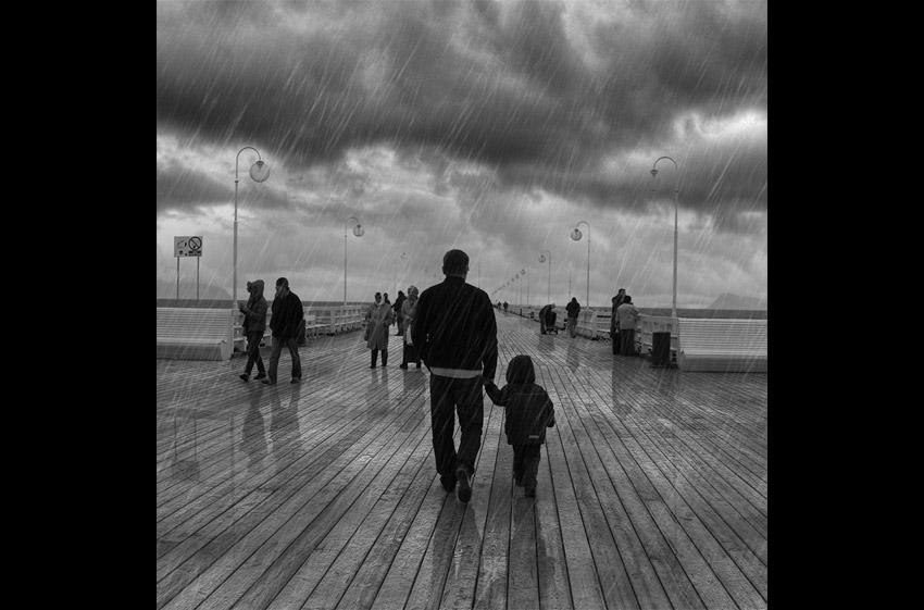 how to add rain to photo photoshop
