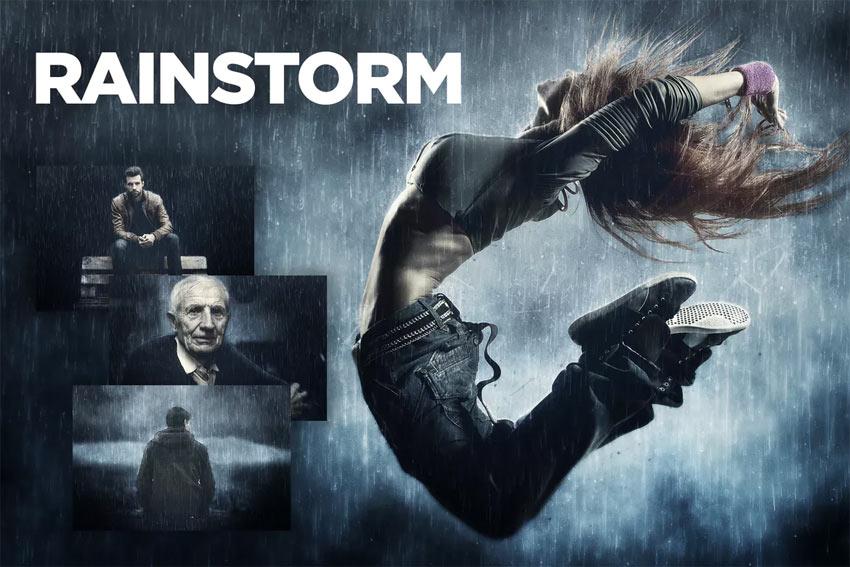 Rainstorm Photoshop Action CS3