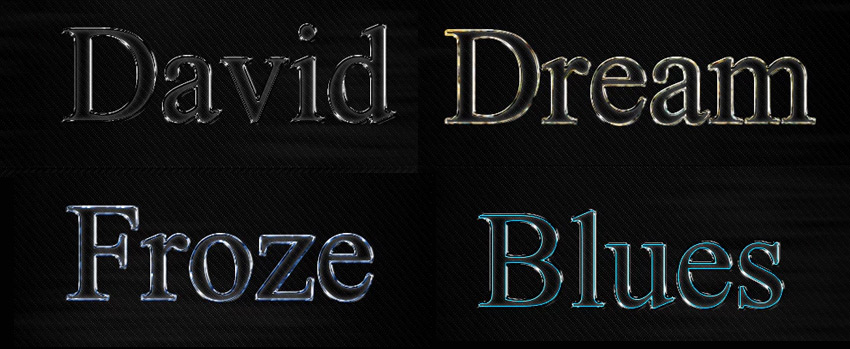 Glass Text Effect Styles