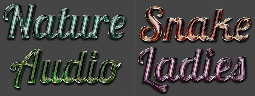 8 Premium Glass Text Effect