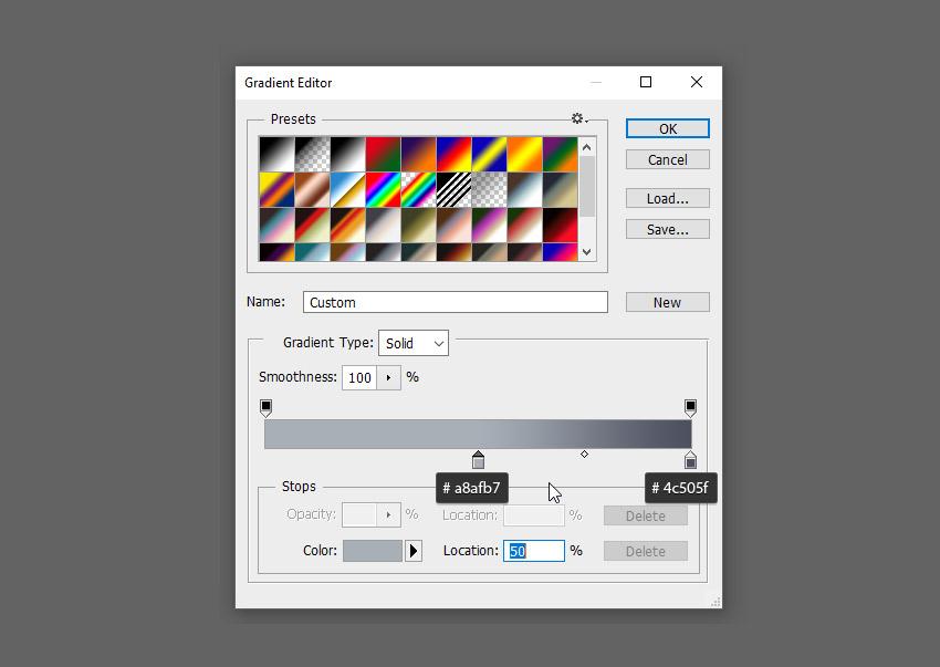 thêm màu gradient