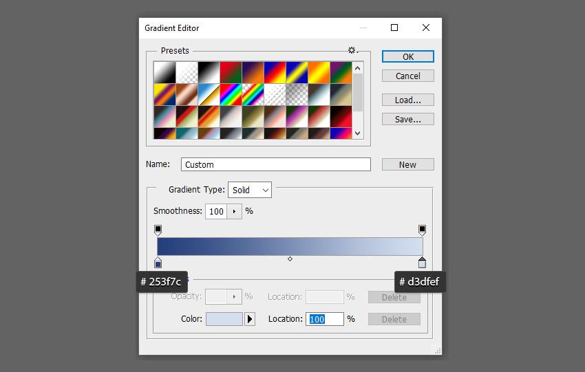 điều chỉnh cài đặt gradient