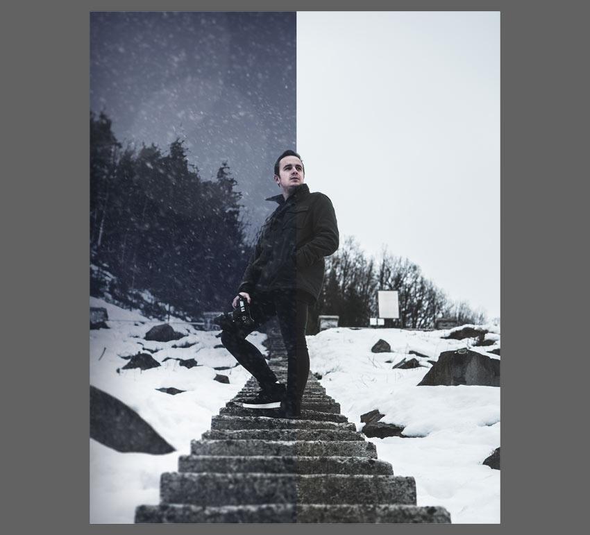 thêm hiệu ứng tuyết vào photoshop