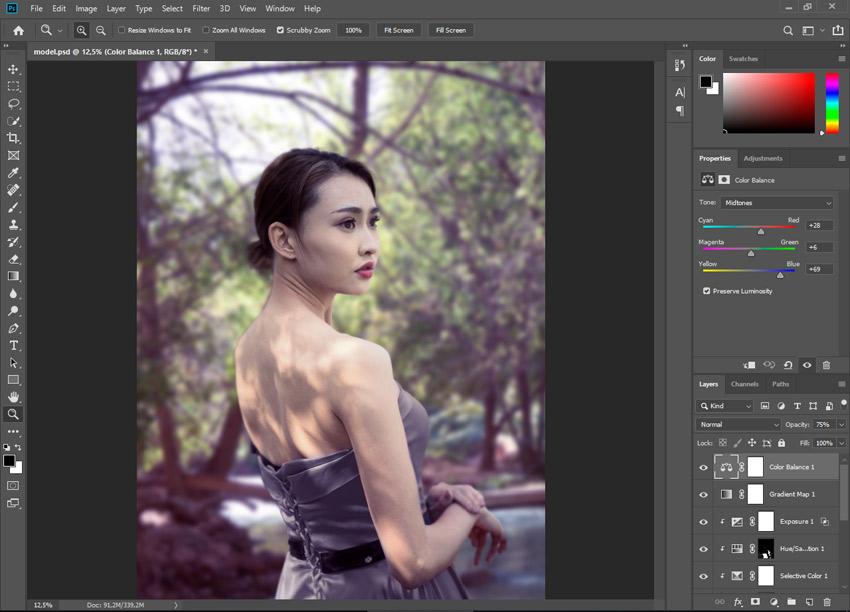 color balance photoshop