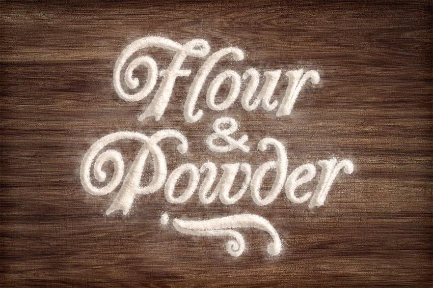 Flour  Powder - Photoshop Actions