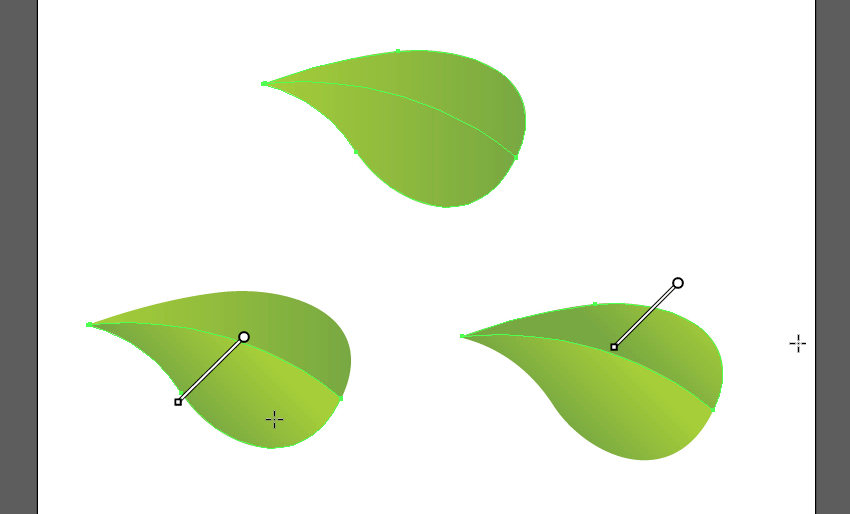 add gradient to leaf