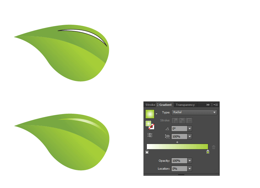 add highlight to leaf