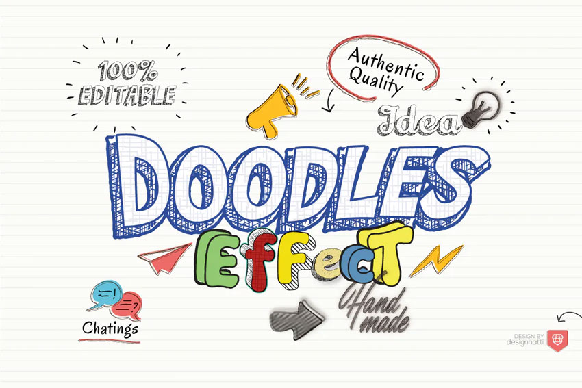 Doodles Text Effect