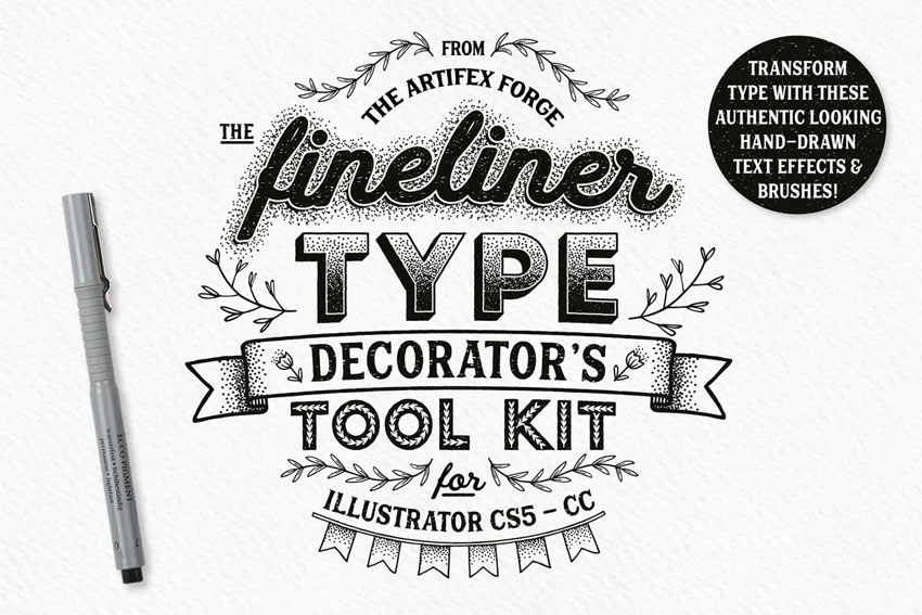 Fineliner Type Decorators Tool Kit