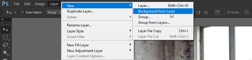 create background layer