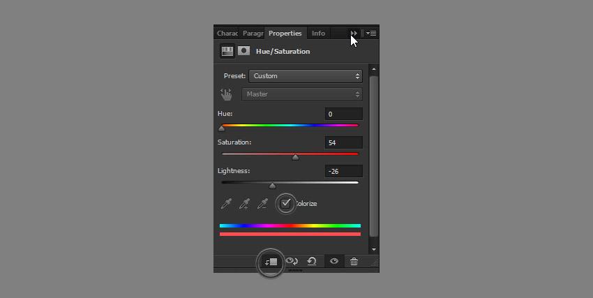 adjust hue saturation