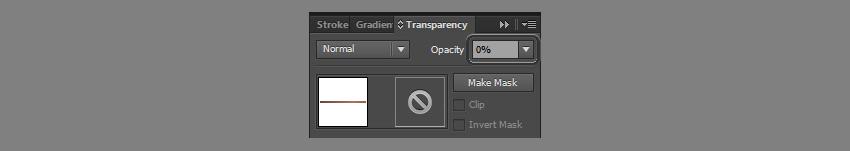 set opacity to 0