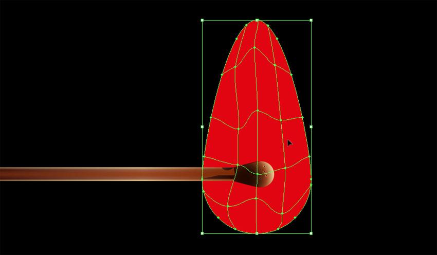 warp the gradient mesh