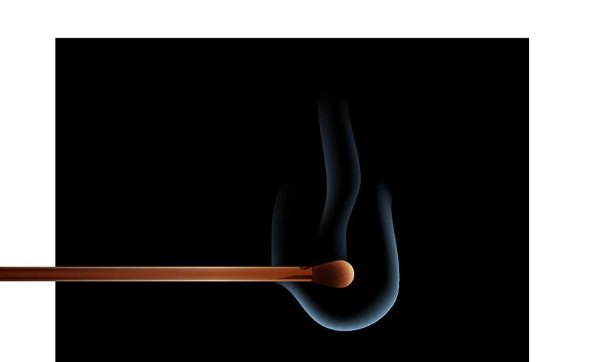 create subtle smoke