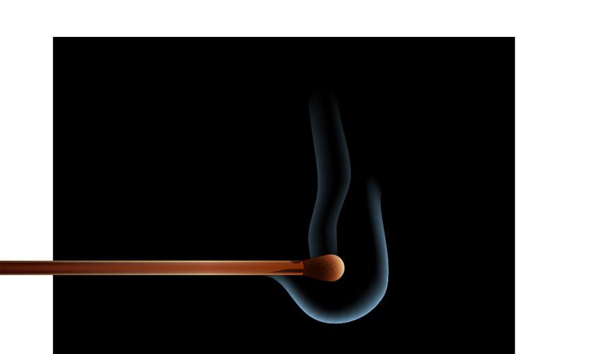 create another streak of smoke