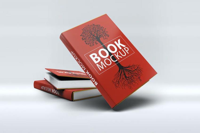 Multiple Books Mockup