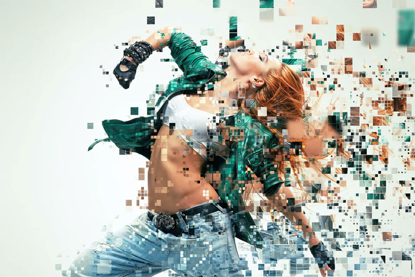 Pixelated Dispersion Photoshop Action