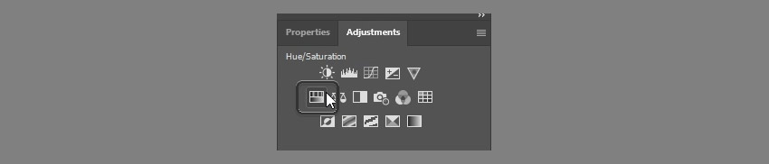 select hue saturation adjustment