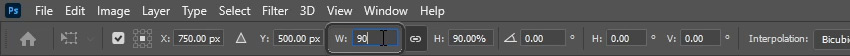 resize the layer mask