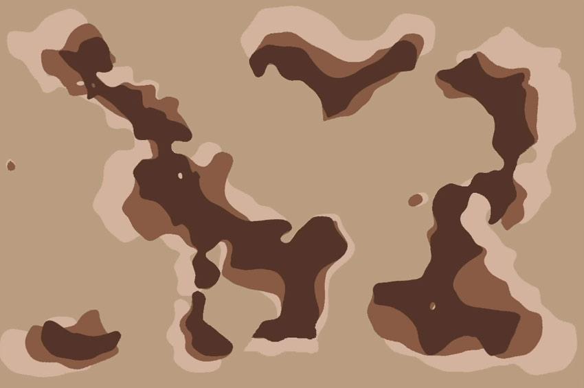 create dark brown splotches