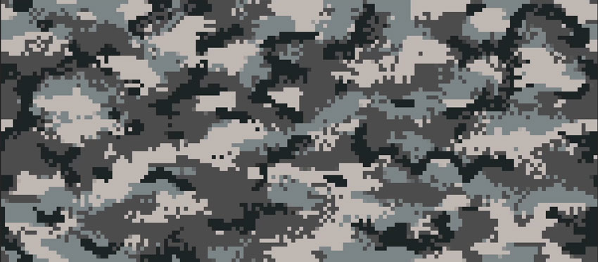 finish the pixelated pattern