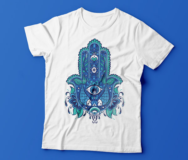 design an eye catching hamsa t shirt in adobe illustrator over millions vectors stock photos. Black Bedroom Furniture Sets. Home Design Ideas