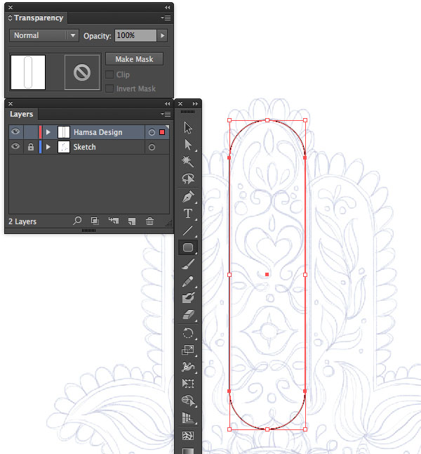 rounded rectangle tool layer arrow key Hand of Mariam Fatima  Hand Khamsa Hamesh sketch illustration miss chatz artwork pen blue fish hand palm eye flower pattern heart design tshirt illustrator