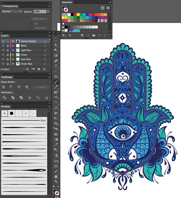 simple color stroke layer variation weight art Hand of Mariam Fatima  Hand Khamsa Hamesh sketch illustration miss chatz artwork pen blue fish hand palm eye flower pattern heart design tshirt photoshop sketch half pattern