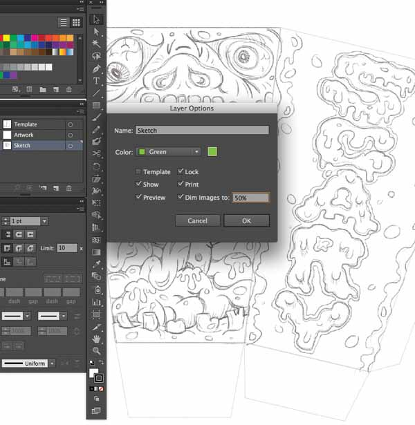 File Save Command S And The As AI Name It Zombie Popcorn Boxai Now That Our Is Imported We Can Prepare Art Brushes