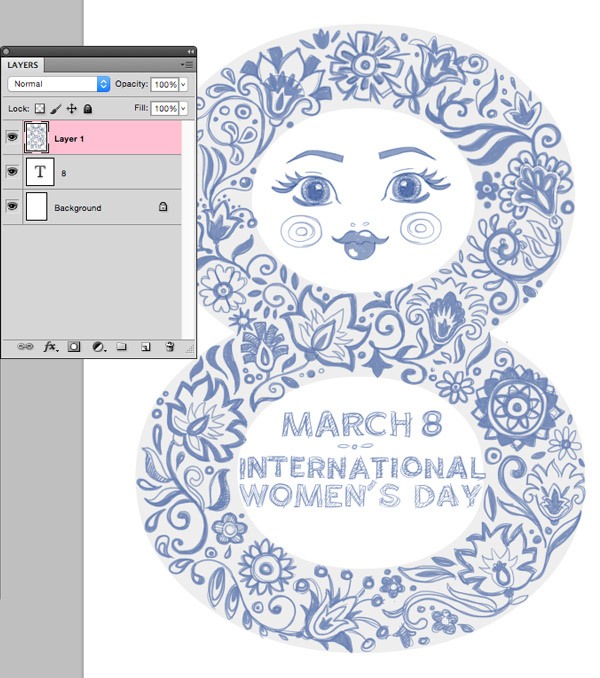 sketch international womens day adobe photoshop type tool 8 layer font gill sans brush tool