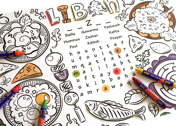 Create a Lebanese Inspired, Printable Placemat for Kids in Adobe ...