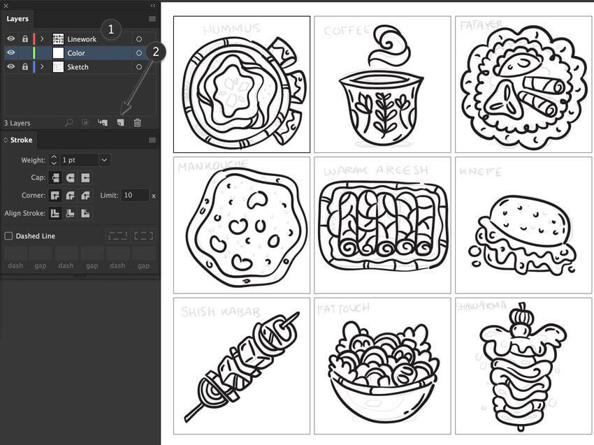 adobe illustrator create new layer