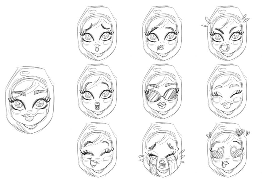 How to Create Khaleeji Woman Emoji iMessage Stickers in Adobe Illustrator
