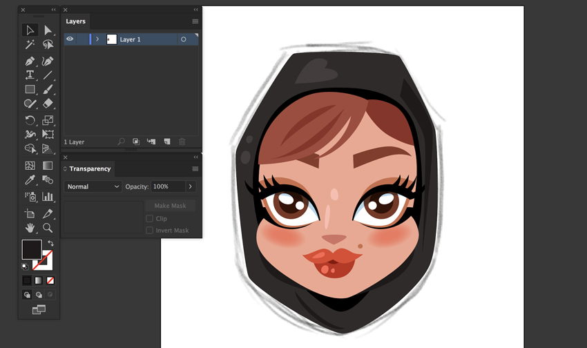 color fill shapes khaleeji woman emoji