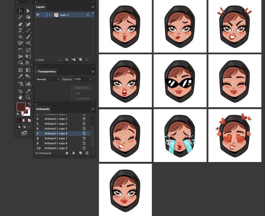 Custom Khaleeji Woman emoji tutorial