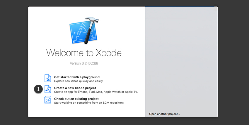 create new project xcode sticker pack application