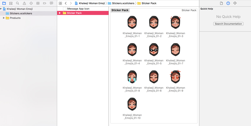 Xcode sticker emoji pack upload