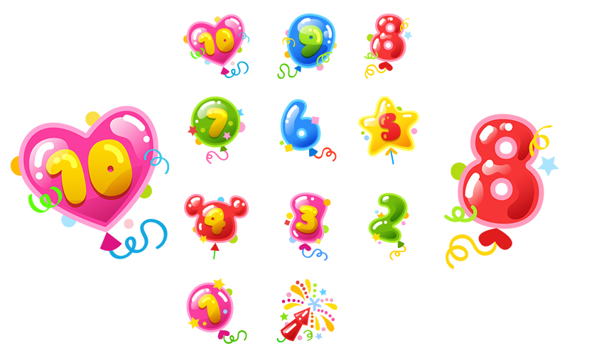 How to Create a Celebration Countdown Sticker Set in Adobe Illustrator