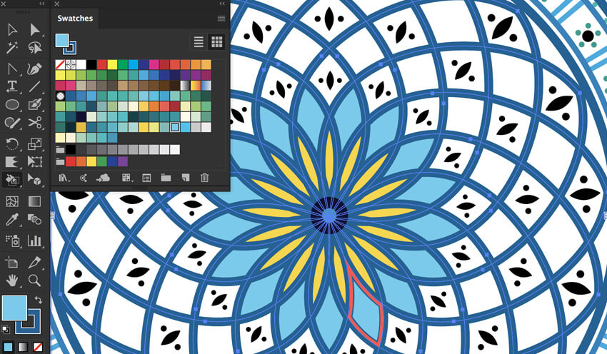 live paint bucket tool color shape builder