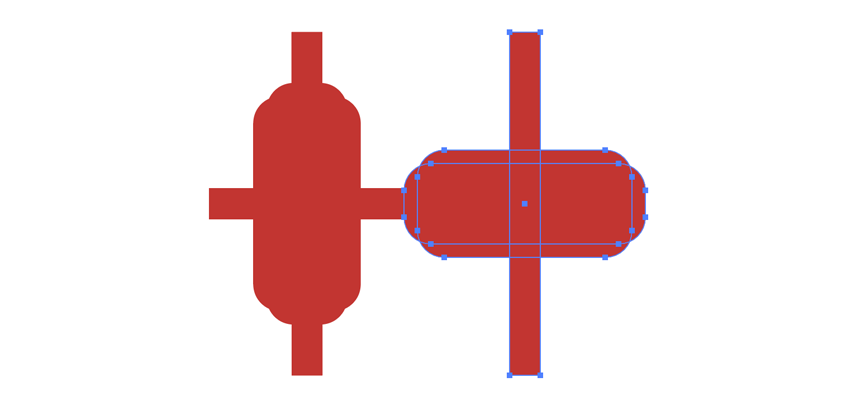 rotate rounded rectangle and align center horizontal and vertical