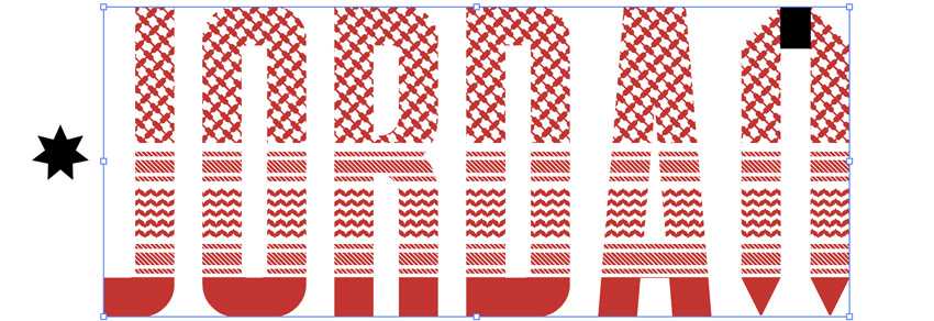 Object clipping mask group and mask pattern