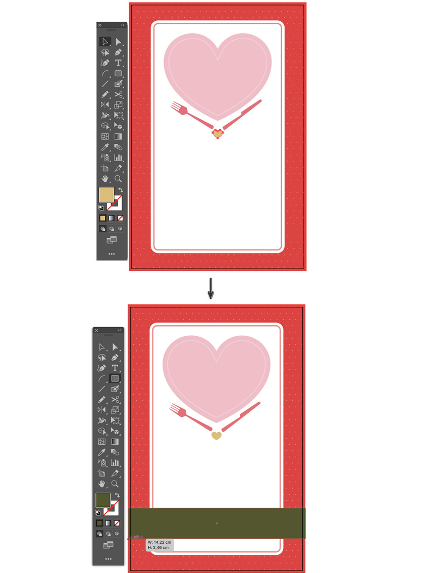 drag drop heart shape duplicate shift alt rectangle tool banner lyer templates flyer design how to make a flyer event flyer menu template